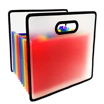Archivador Acordeón - Carpetas de Acordeón A4 Carpeta Archivador Plastico en Expansión con 12 Compartimentos: Amazon.es: Oficina y papelería