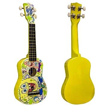 Bob Esponja - Ukelele soprano en amarillo con 4 cuerdas de nailon: Amazon.es: Instrumentos musicales