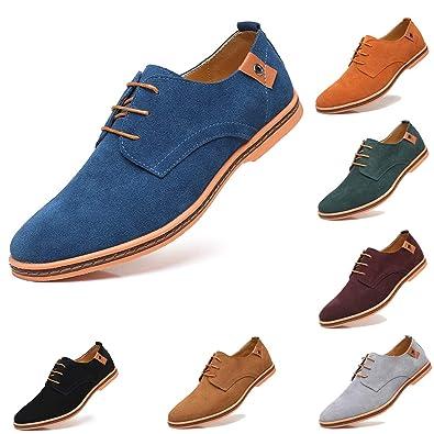 4280b854b8 AARDIMI Herren Schnürhalbschuhe Klassische Oxford Wildleder Schuhe Smoking  Schuhe Anzugschuhe Business Herren Halbschuhe (38EU=