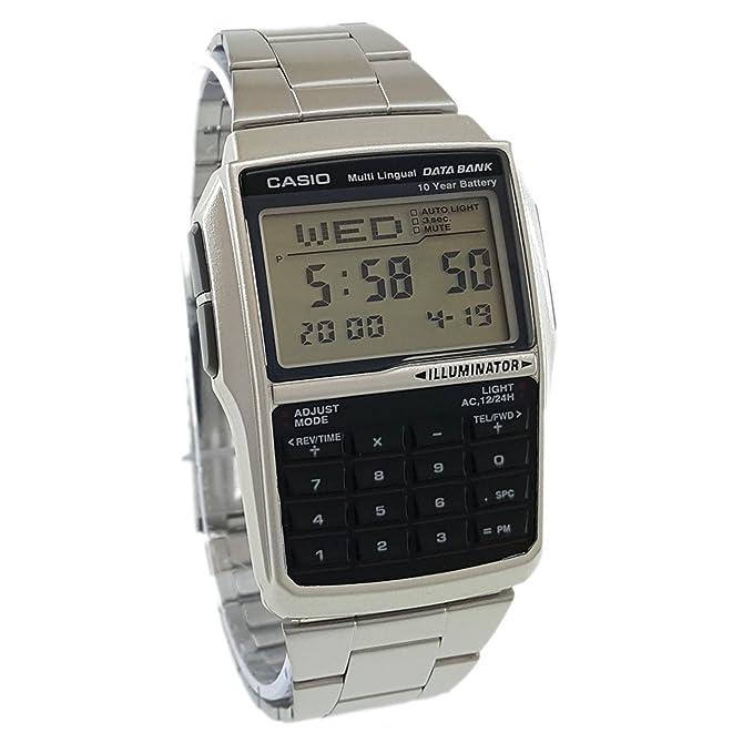 Men's Casio DBC 32D 1A Silver Steel Databank Calculator Watch