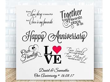 Personalisierbar Hochzeit Jahrestag Love Zitate Schild Aus
