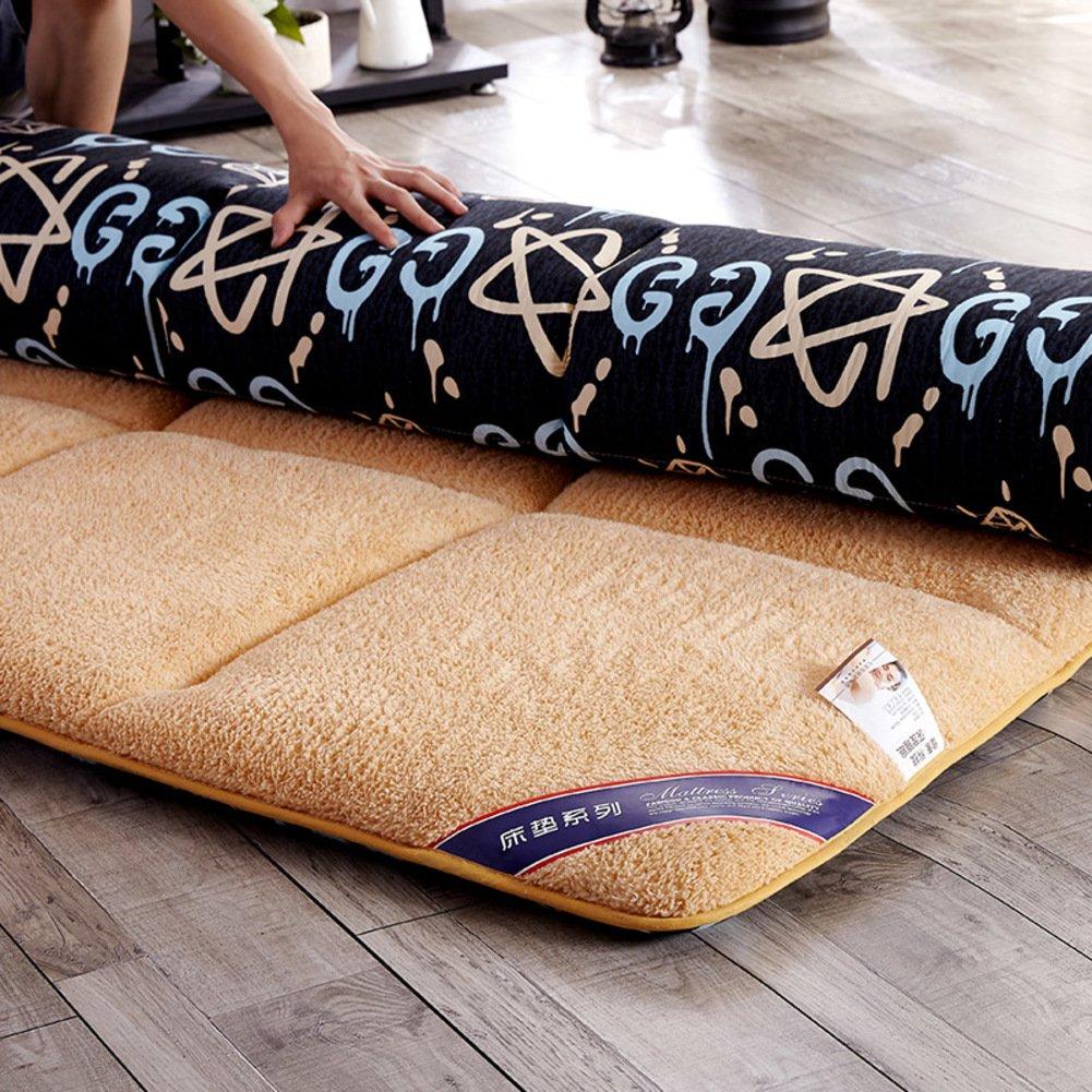GX&XD Flanell Tatami tatamimatte,Faltende matratze Boden Liege Abdeckung Stock-matratze Tatami-matten Weich Zusammenklappbar Weich Tatami-matten Matratze-M 120x200cm(47x79inch) e7e793