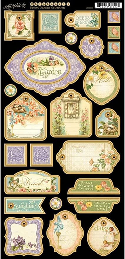 Graphic 45 Secret Garden 12x12 Double-Sided Cardstock Paper Pad