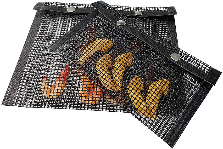 Sunfauo Grilles Barbecue Grille Barbecue Rectangulaire BBQ Grill Mat Barbecue Griller Tapis Barbecue Grille Barbecue Rack Non Bâton Barbecue Grill Tapis E E