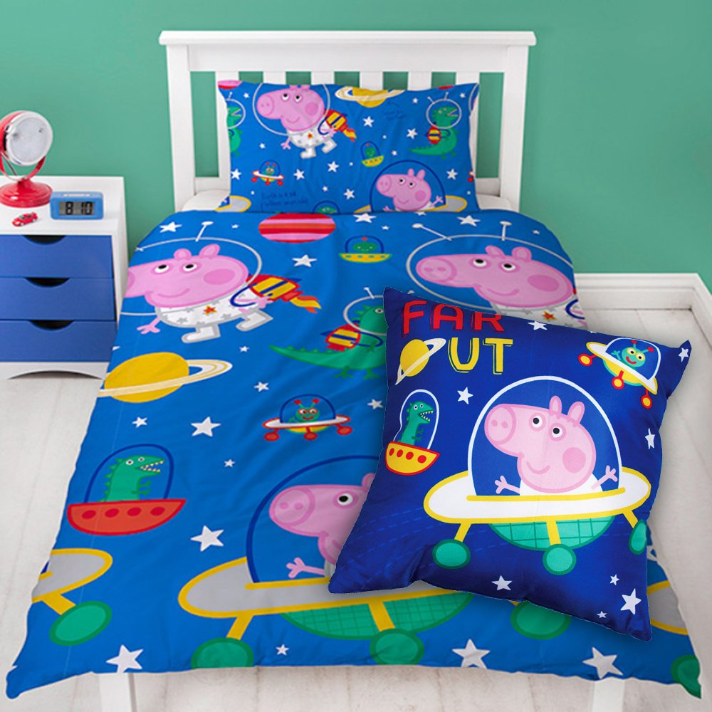 Peppa Pig Planets Single Duvet and Cushion Combo unknown
