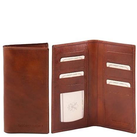 comprare on line d05cf 921b0 Tuscany Leather Esclusivo portafoglio verticale uomo in ...