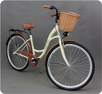 46bdc5c91cb 28 quot  Women s City Bike Vintage Style Dutch Town Bikes Wicker Basket ...