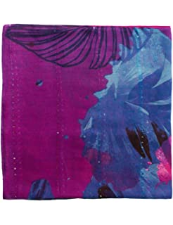 Desigual Foulard birdpalm, Echarpe Femme, Bleu (Navy 5000), Unique ... 3c2925735349