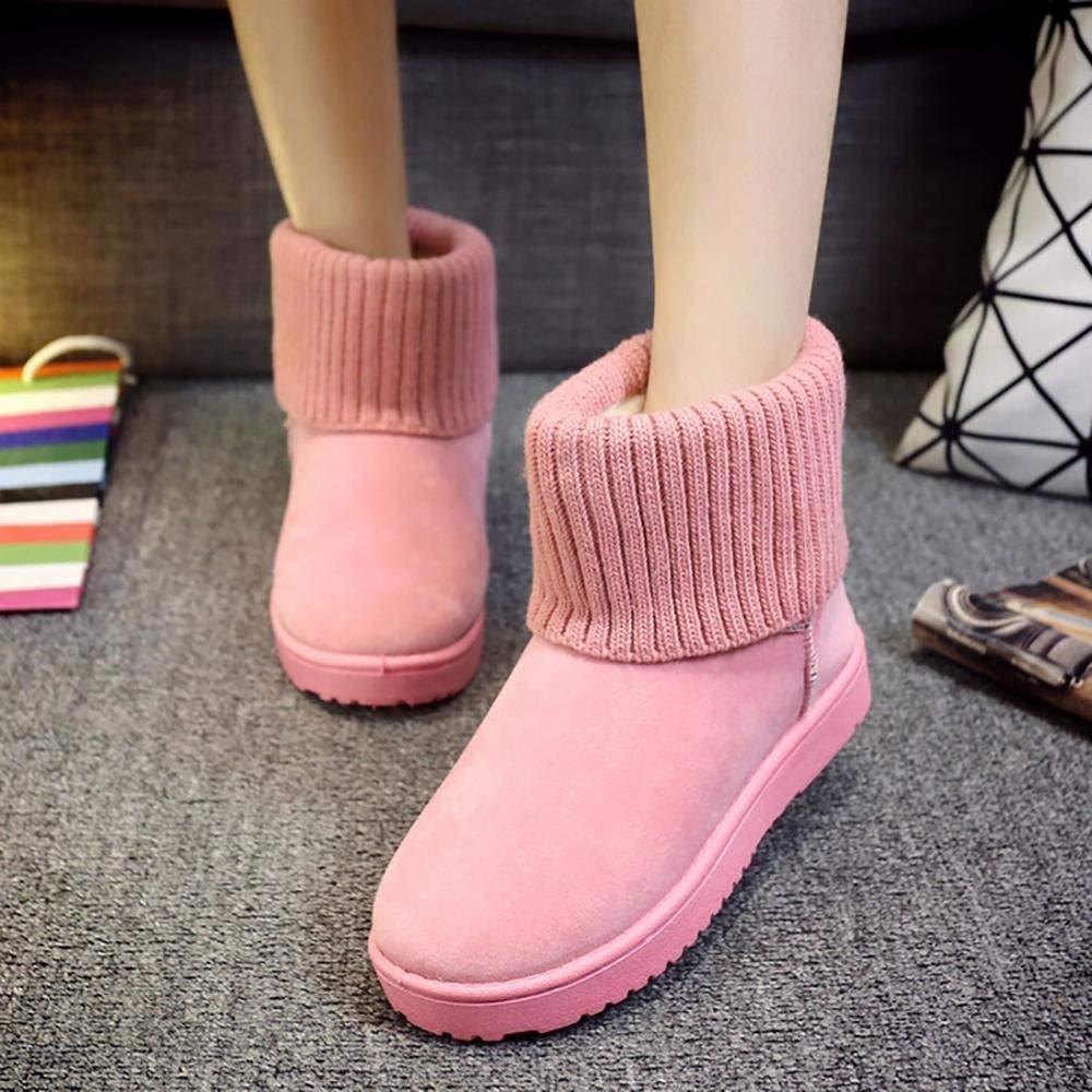 HhGold Damen Winterstiefel Gefüttert Bow  Stiefel Schneestiefel Schleife (Farbe   Bow Rosa, Größe   EU 40) fd4d27