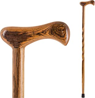 product image for Handcrafted Wood Walking Cane - Made in the USA by Brazos - Twisted Bocote Exotic - 37 Inches
