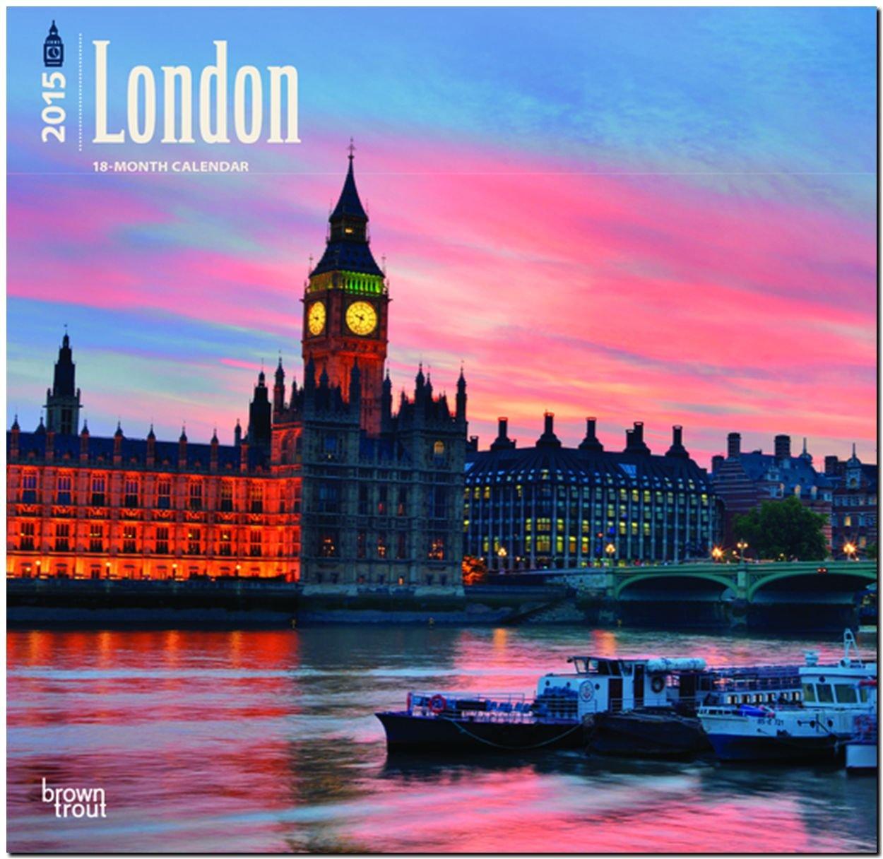 London 2015: Original BrownTrout-Kalender [Mehrsprachig] [Kalender]