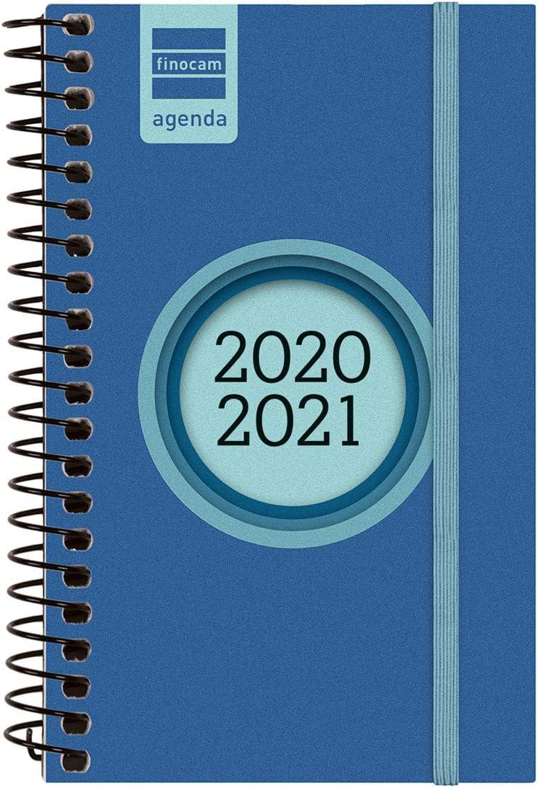 Finocam - Agenda Curso 2020-2021 E3, 79 x 127 Semana Vista Apaisada Espir Label, Azul Cobalto, Español