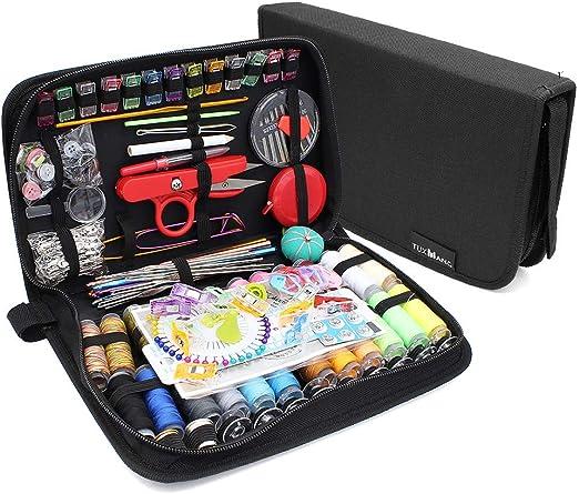 Subtop Kit de costura Premium, 282 Pcs Suministros de costura de bricolaje, Herramientas de costura portátil para el recorrido del hogar y de emergencia: Amazon.es: Hogar