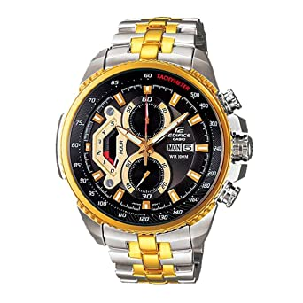 Amazon.com: Watches Casio Edifice EF-558SG-1AV Gold Color Chronograph: Watches