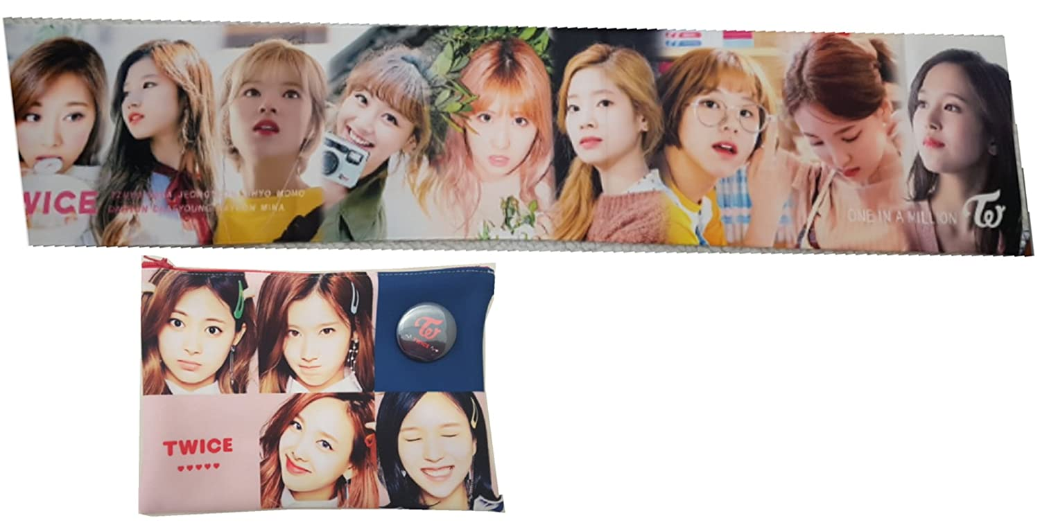 Twice K-Pop Cheering Banner, Slogan Towel with a Pouch