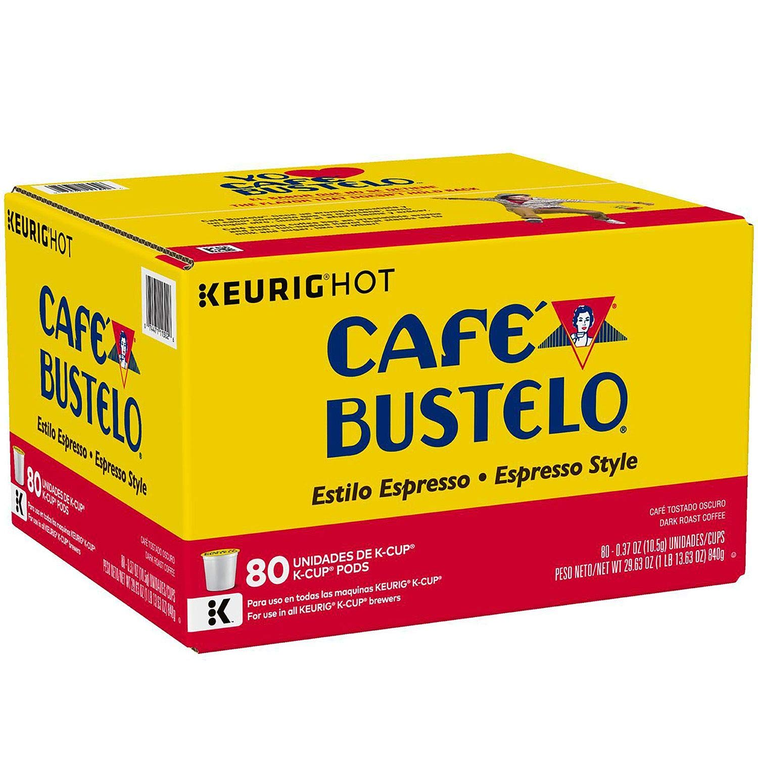 Cafà Bustelo Espresso Style K-Cup (80 ct.) (Pack of 2): Amazon.com: Grocery & Gourmet Food