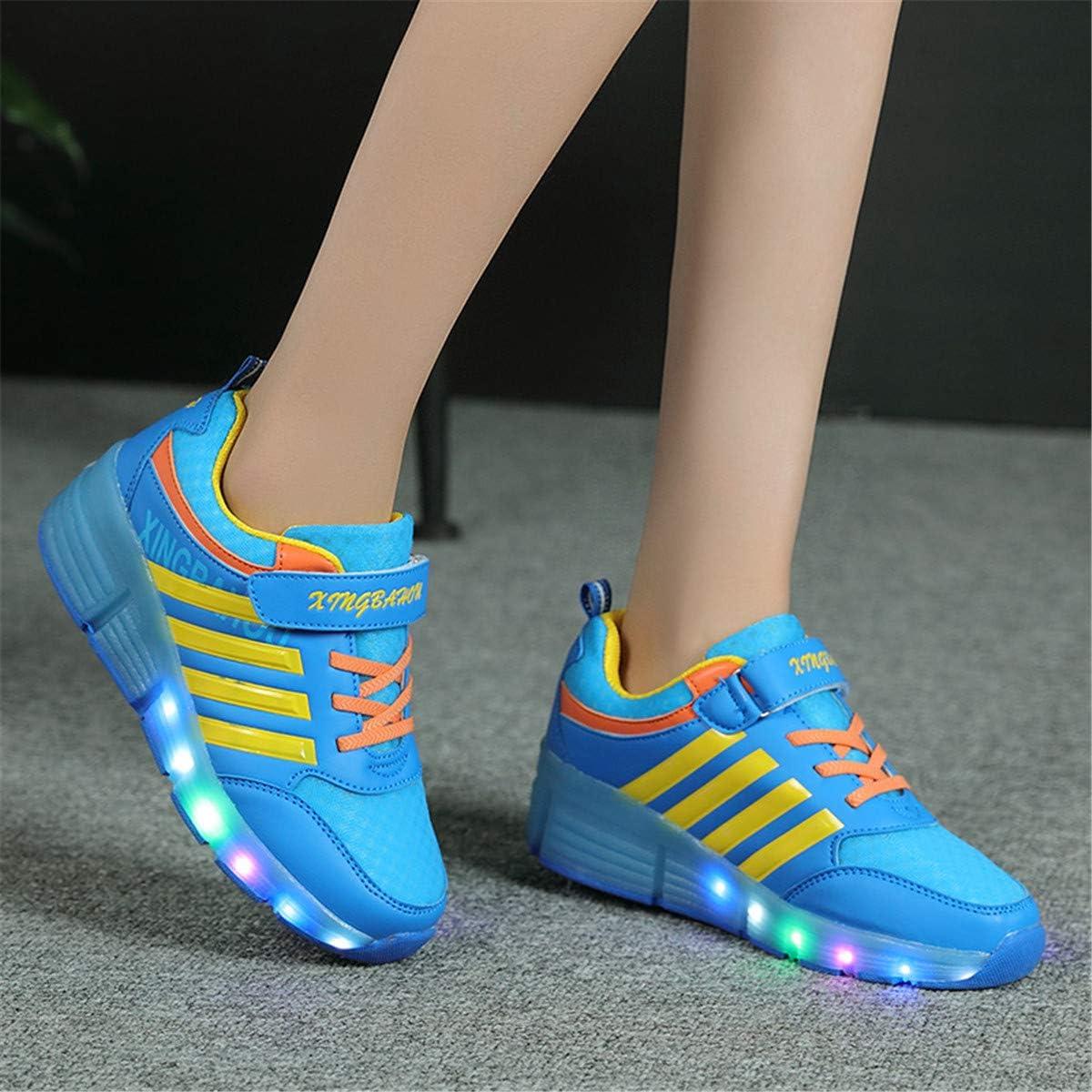 7 Color/és LED Chaussures Baskets pour Gar/çons et Filles Enfants Lumineuse avec Roue Chaussures de Sport Viken Azer-UK ❤❤❤Chaussures /à roulettes