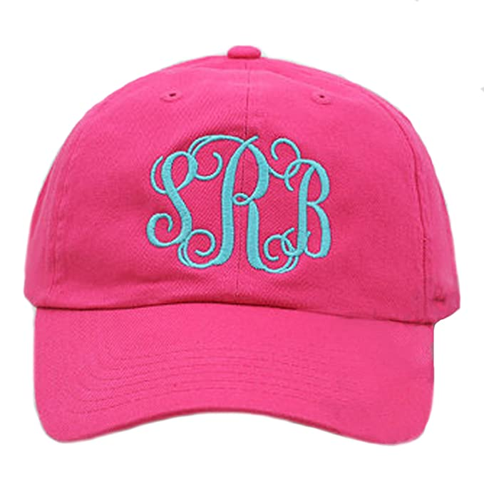 7d056e0a9122b Image Unavailable. Image not available for. Color  Tiny Expressions Women s  Monogram Baseball Hat ...