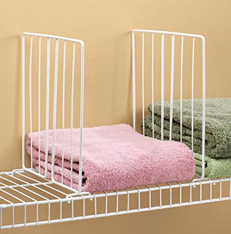 Amazon.com: Shelf Divider for Wire Shelves Set of 4: Home & Kitchen