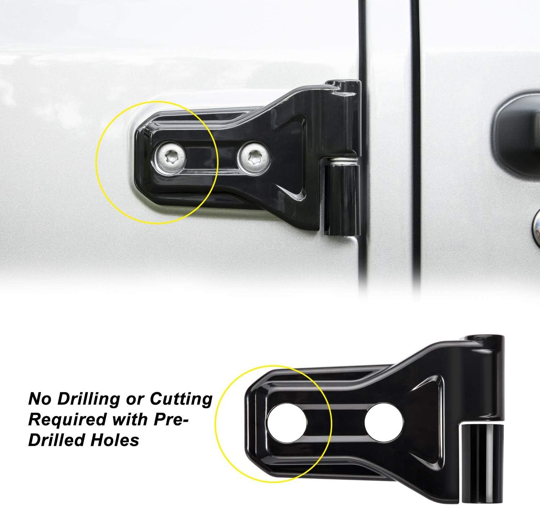 Danti Door Hinge Trim Cover fit for 2018 Jeep Wrangler JL 4-Door 4-Door