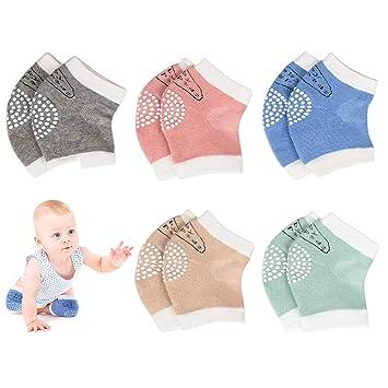 vanberfia 5 Pairs Baby Crawling Anti-Slip Knee Pads Baby Toddlers Kneepads Leg Warmers