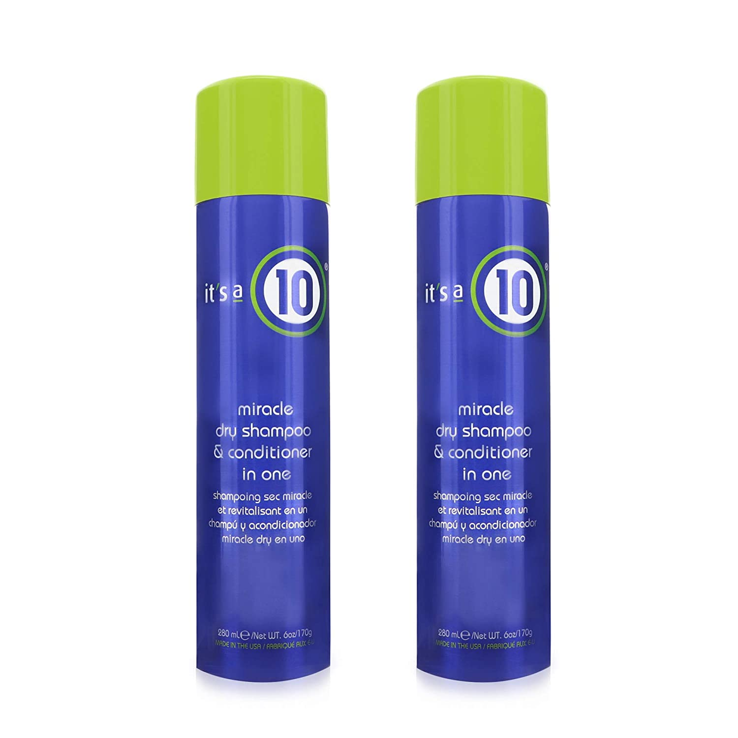 it's a 10 Haircare Miracle Dry Shampoo & Conditioner in One, 6 oz. (Pack of 2)