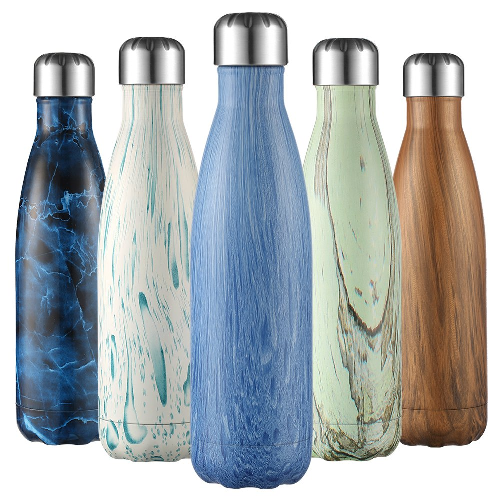 500ml Water Drink Bottle Double Wall Stainless Steel Picnic Gym Hiking Camping