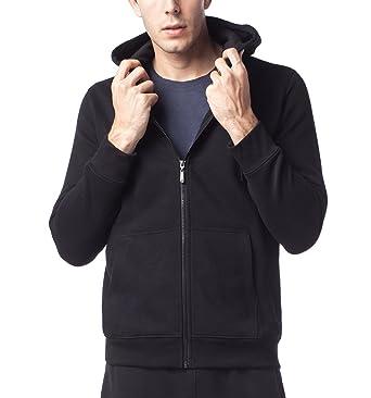 8e2421a729a95 LAPASA Sweat à Capuche Homme Zippé Veste Sweat Shirt Doublure en Laine  Polaire Molleton - Noir