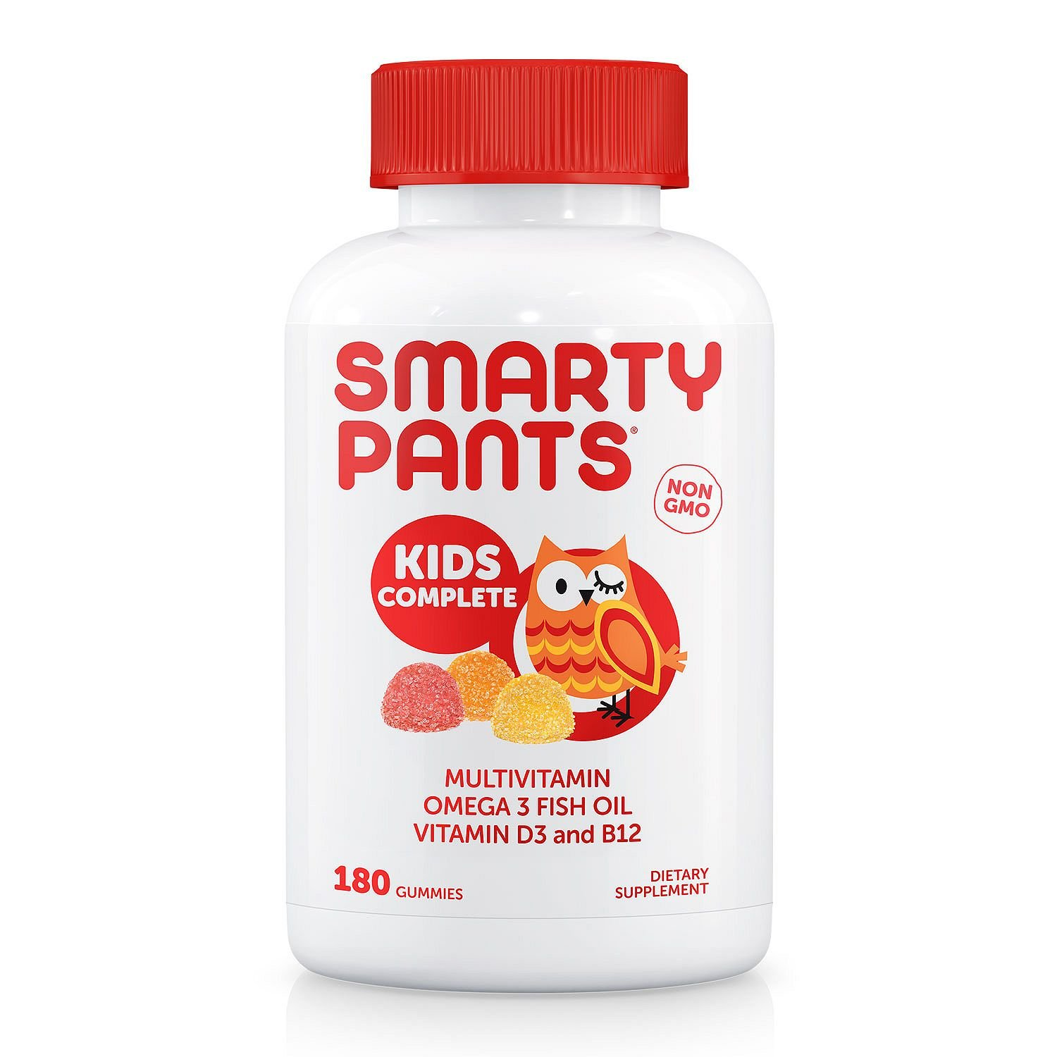 CDM product SmartyPants Kids Complete Daily Gummy Vitamins, Gluten Free, Multivitamin & Omega 3 Fish Oil, 180 Count big image