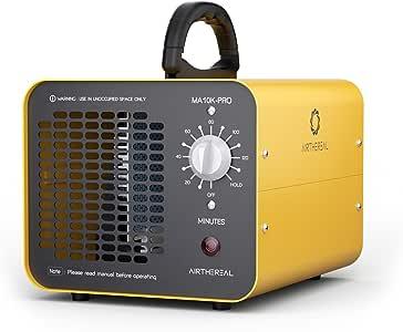 Airthereal MA10K-PRO 10,000mg / HR Generador de ozono Industrial Asesino de olores con Temporizador para Habitaciones, hoteles, Autos, Mascotas, Humo y Granjas, Aluminum, Amarillo: Amazon.es: Hogar
