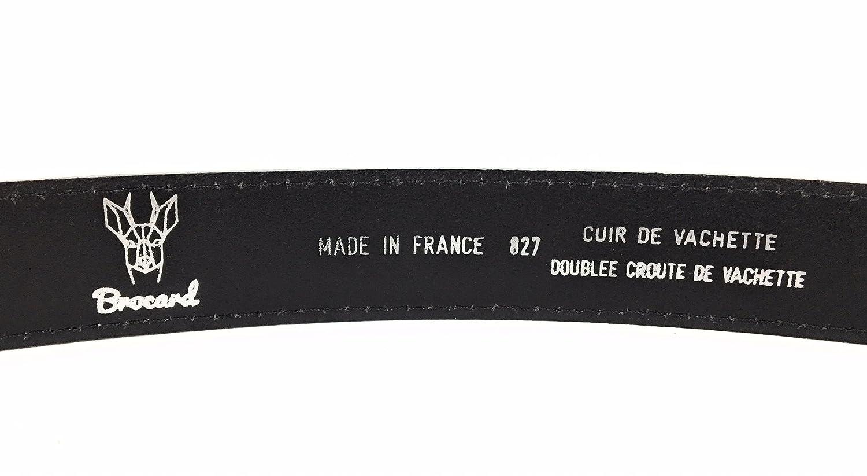 Brocard Ceinture femme en cuir noir fabriquée en France M 90 cm ceinture  mode ceinture élégante - Noir - Medium, 90 cm  Amazon.fr  Vêtements et  accessoires 01816330602