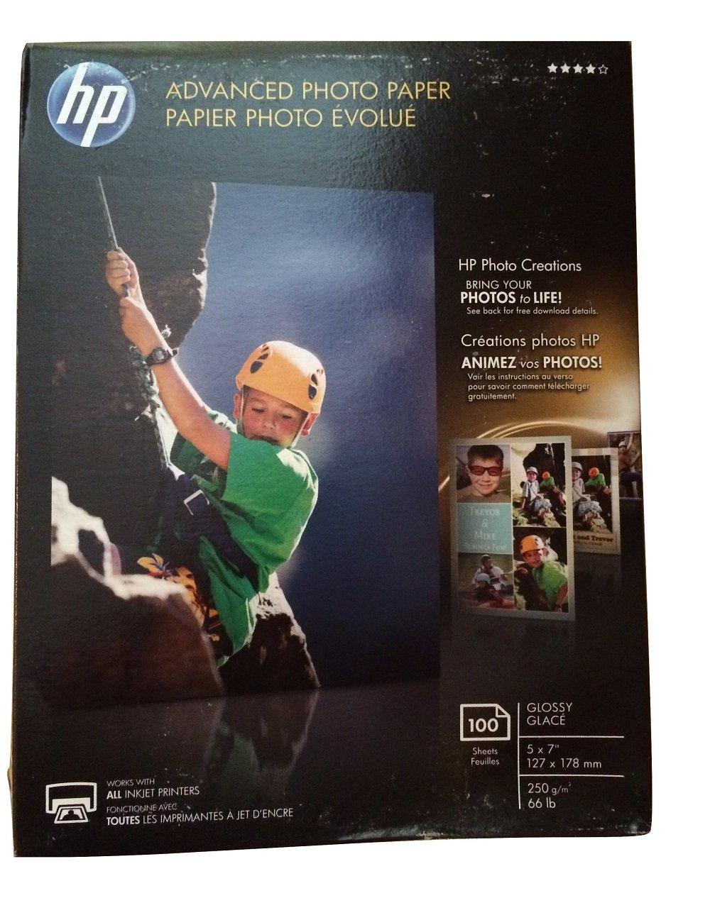 HPアドバンスフォト用紙、光沢、5