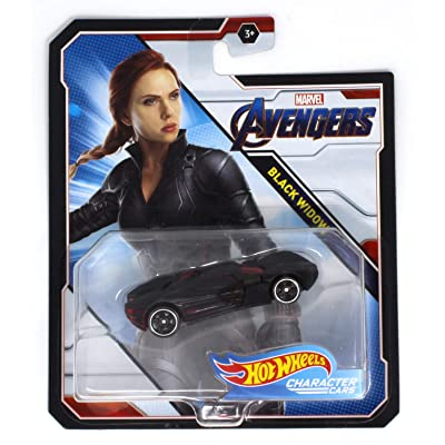 Hot Wheels Character Cars Black Widow Marvel Avengers: Toys & Games