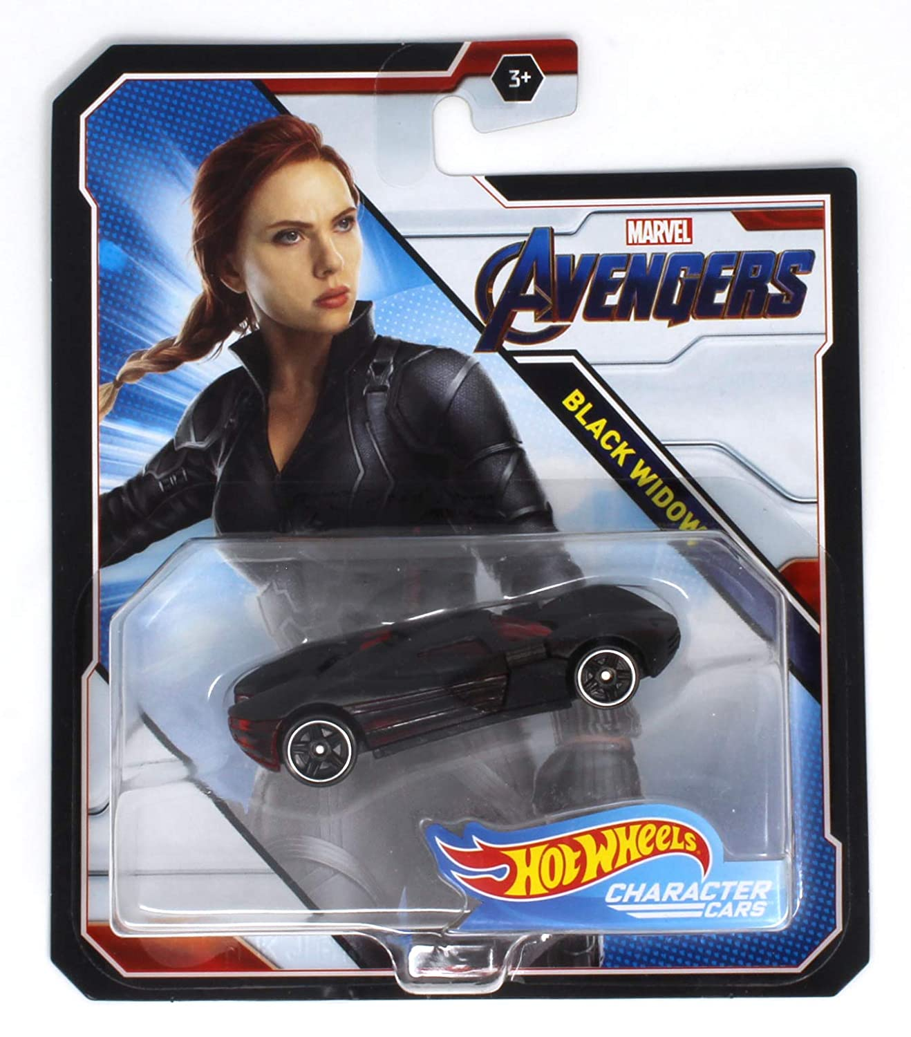 Buy Hot Wheels Character Cars Black Widow Marvel Avengers By