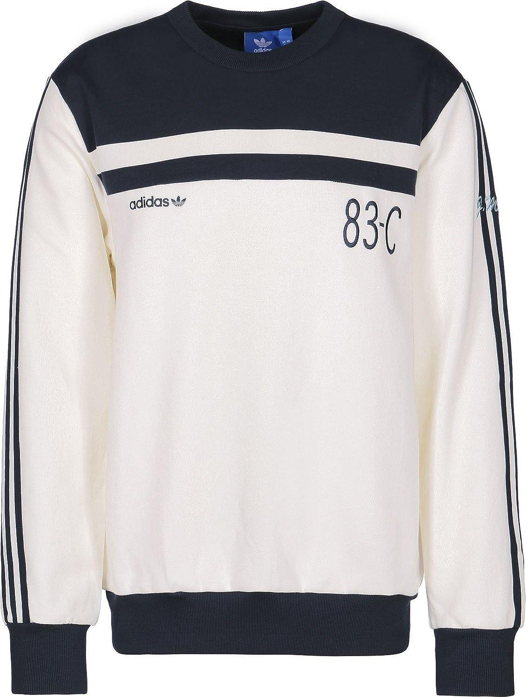 adidas 83-C Crew Sudadera off white/legend ink: Amazon.es: Ropa y accesorios
