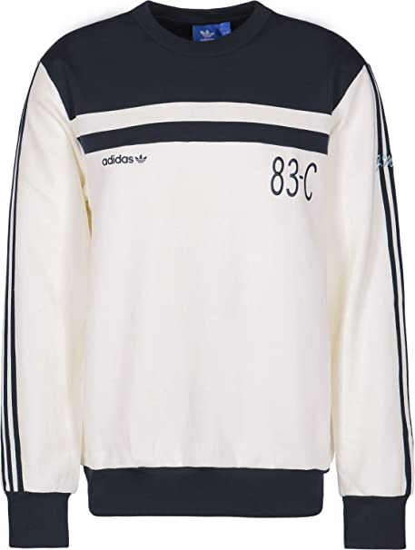 adidas 83-C Crew Sudadera off white/legend ink: Amazon.es: Ropa y accesorios