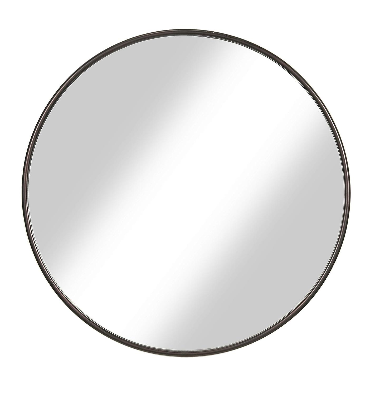 Martin Svensson Home 30 Oil Rubbed Bronze Framed Round Wall Mirror Diameter