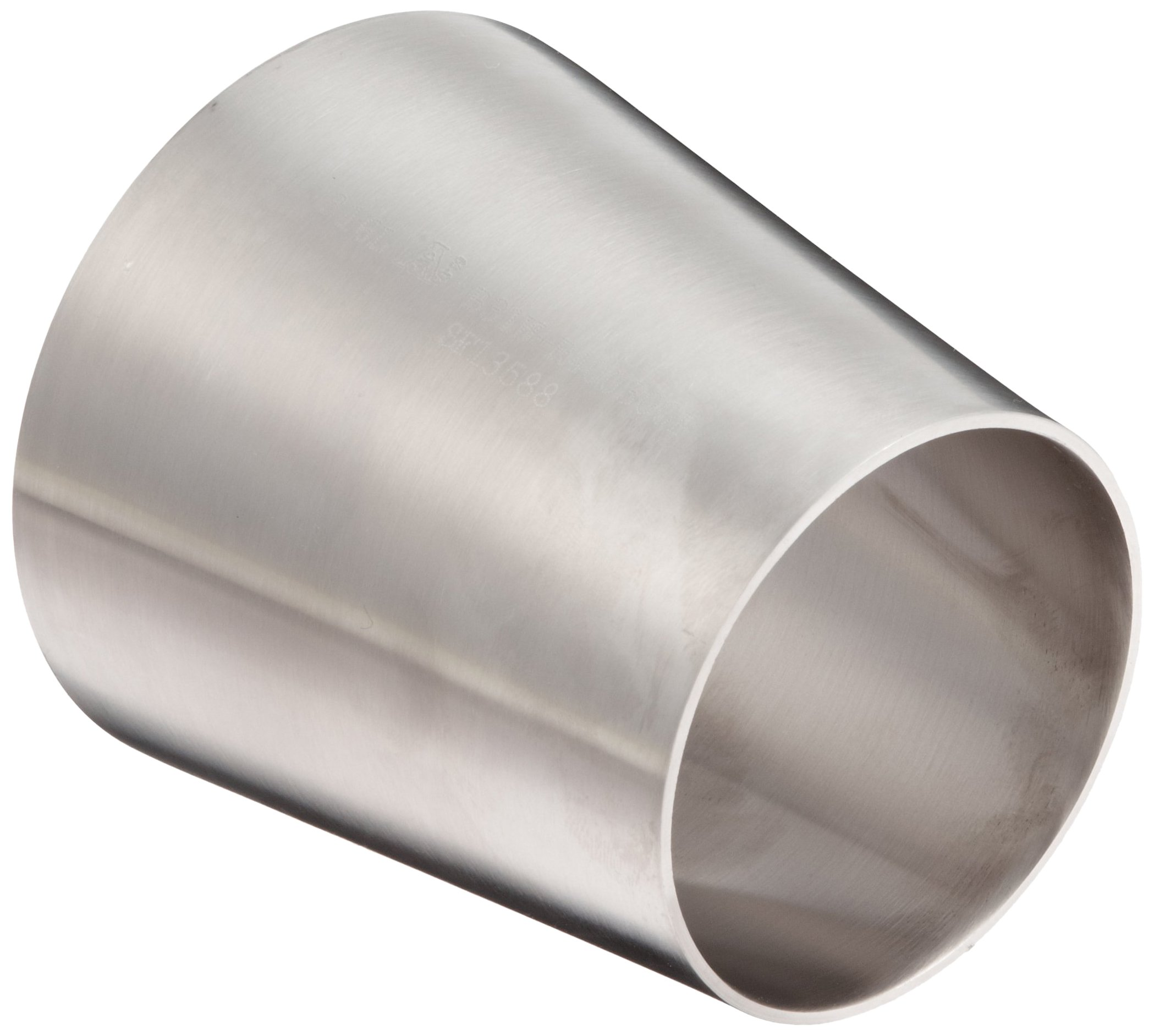 DixonB31W-G600400P Stainless Steel 304 Polished Fitting, Weld Concentric Reducer, 6'' Tube OD x 4'' Tube OD