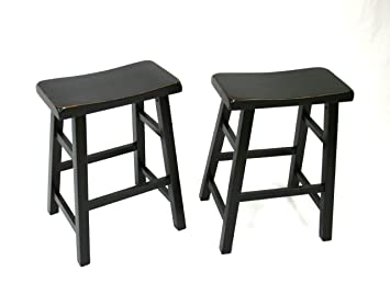 ehemco set of 2 heavy duty saddle seat bar stools counter stools 24u0026quot - Amazon Bar Stools