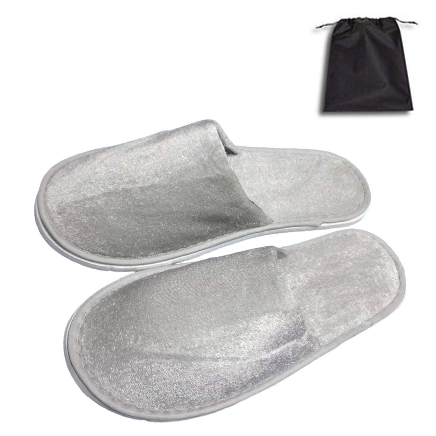 5 Pair of Close Toe Breathable Slippers, Spa Slippers for Guests, Hotel, Travel, Unisex Universal Size Washable and Non-Disposable by Tee-Mo