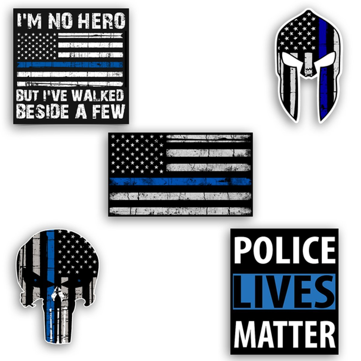 Thin Blue Line Decal Mega Sticker Pack