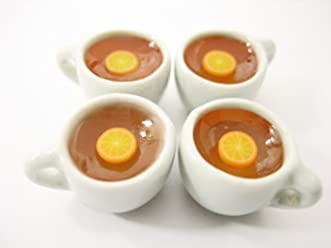 Miniature Drink Beverage White 9 Tea Funnel Ceramic Mug Cup Dollhouse Food 13420