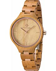 Greentreen Women's Cherry Wood Watch Lightweight Comfort Quartz Watch Gift Boxed Fashion Watch Casual Watch