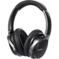 Edifier W860NB Active Noise Cancelling Foldable Over-Ear Bluetooth Headphones with Mic, Smart Touch, 25 Hours of ANC Battery Life, Travel Case, and NFC Pairing - Black