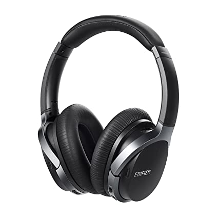 bc7acfa6d66 Amazon.com: Edifier W860NB Active Noise Cancelling Over-Ear Bluetooth aptX  Headphones with Smart Touch - Black: Electronics