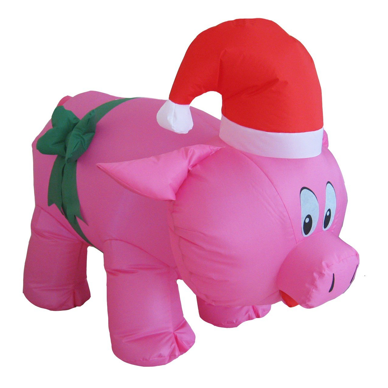 Santa's Boutique Christmas Self Inflating Illuminated Blow-Up Yard Decorations (Pink Pig 3 Ft 6 Inches Tall) by Santa's Boutique (Image #1)