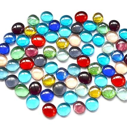 OUNONA 1 Paquete DE 15 – 17 mm Piedras Coloridas pecera Maceta decoración Natural decoración Acuario