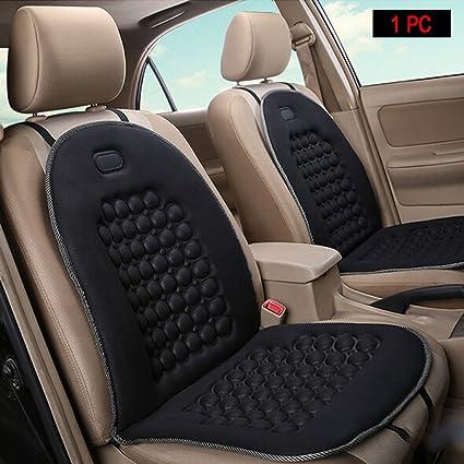 HomDSim Cojines de asiento de coche esféricos con masaje, cubiertas universales de asiento de coche, cojín para asiento de coche, cubierta acolchada ...