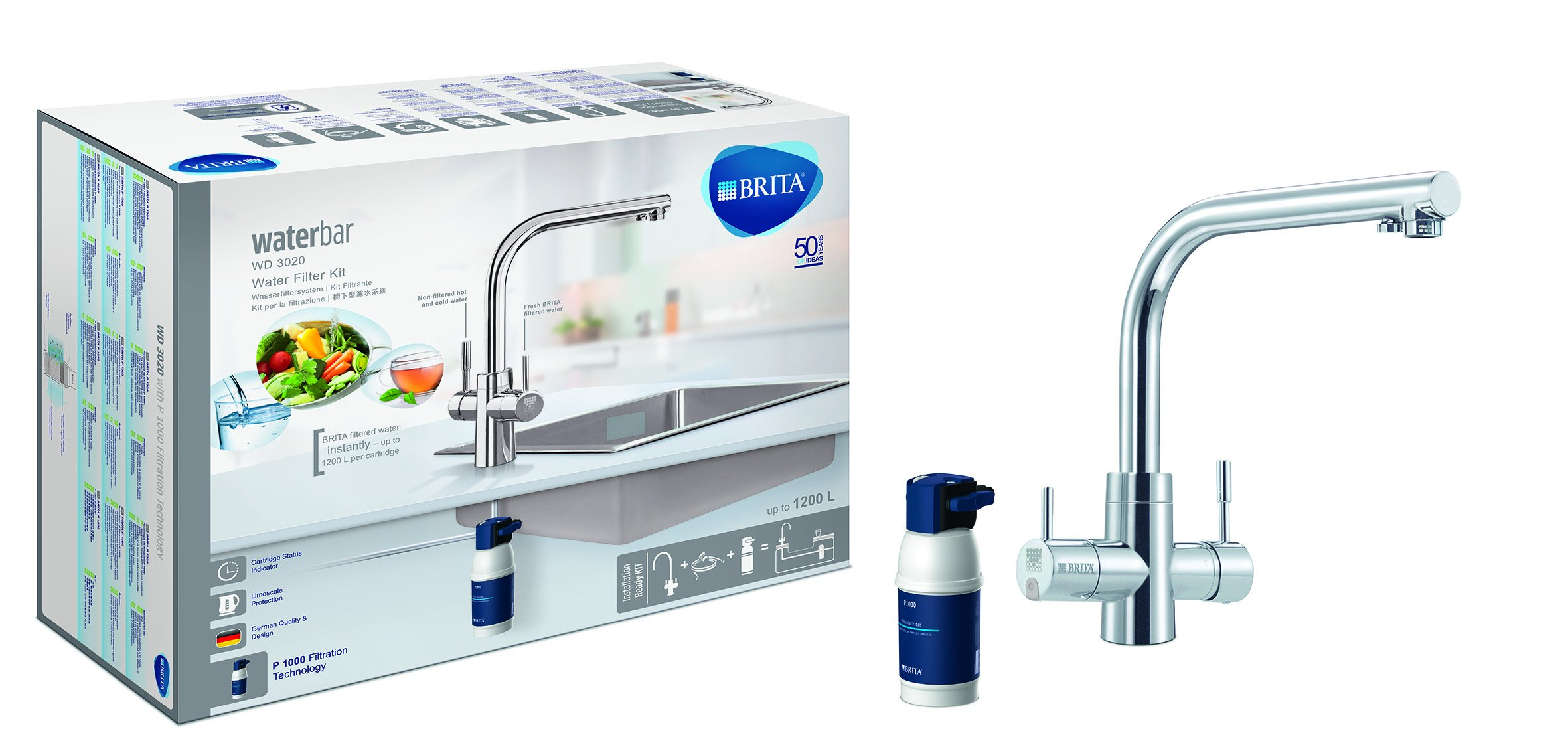 3 in 1 Filtration System Brita Wd3020