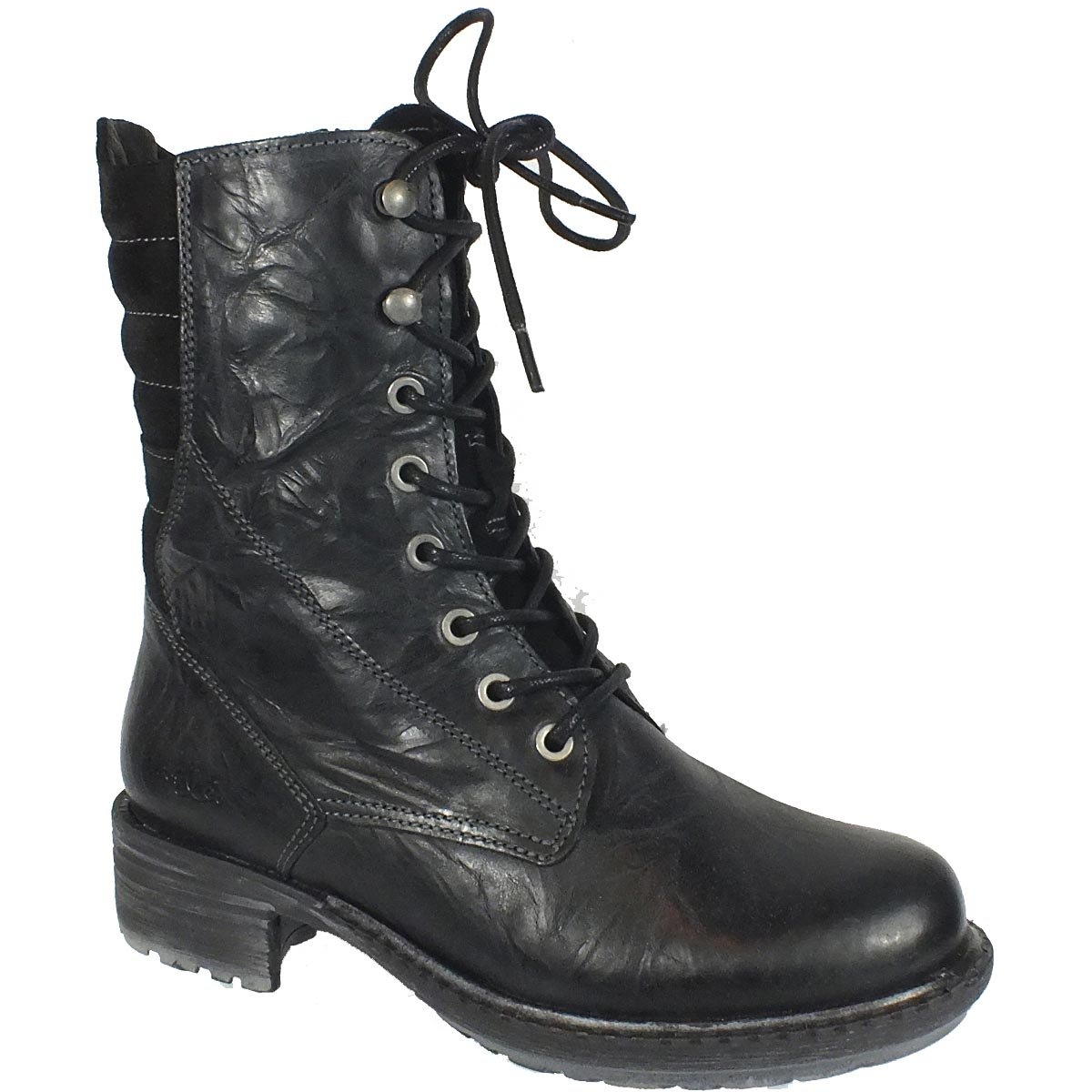 252cd0901ad2a Bos. & Co. Women's Salem Chunky Stacked Heel Combat Motorcycle Boot